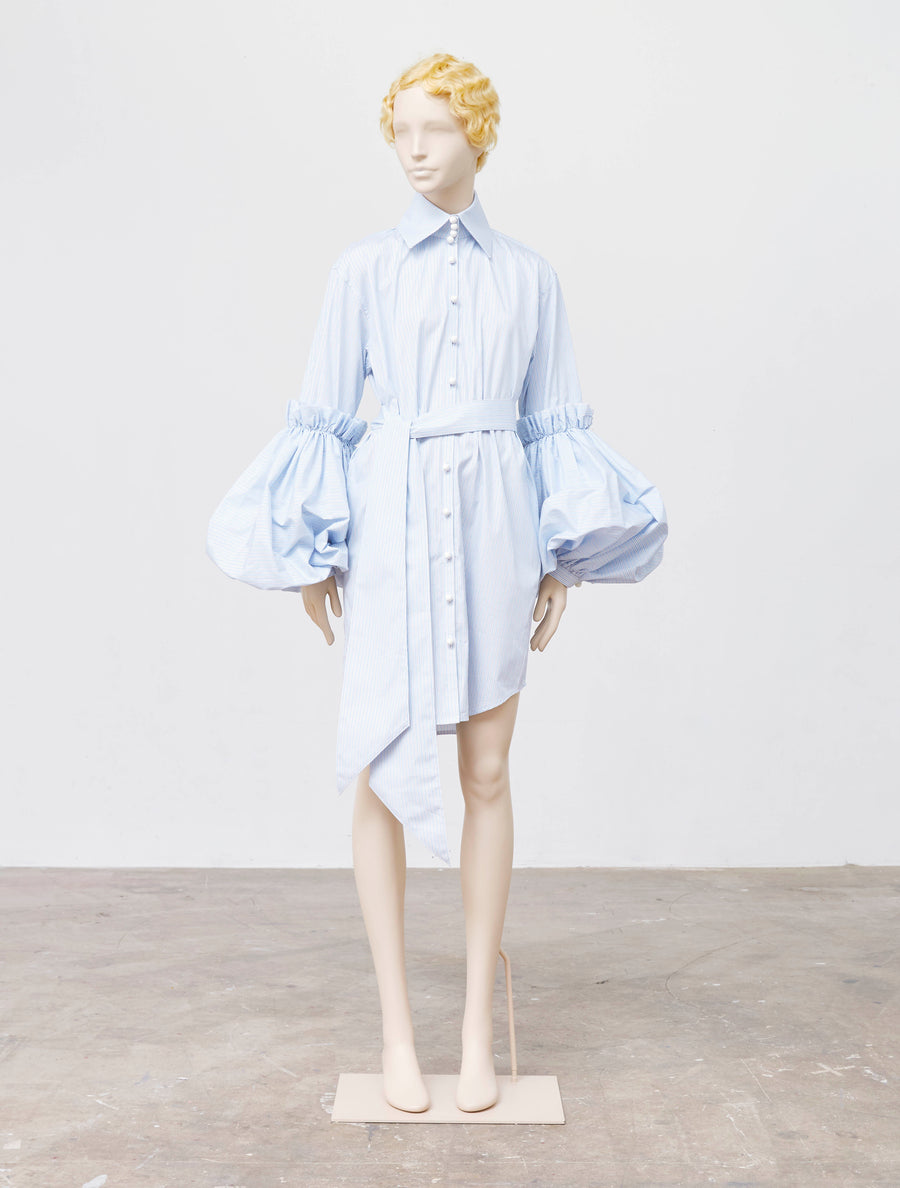 Akiko Aoki Full Volume Arm Mix Shirt Dress