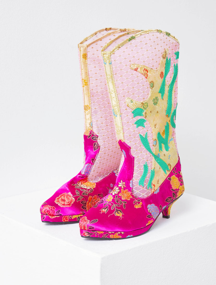 Jenny Fax Pink Boot