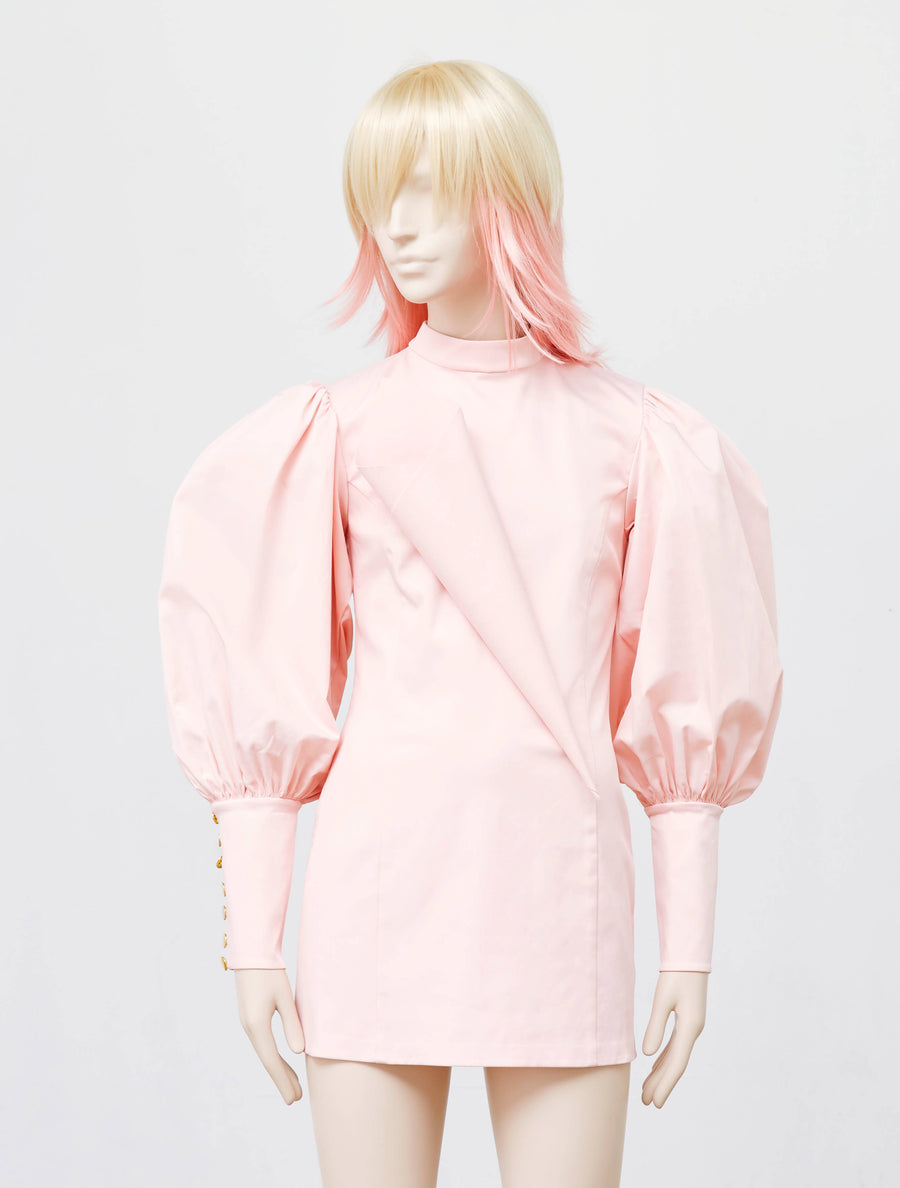 George Keburia Baby Pink Dress