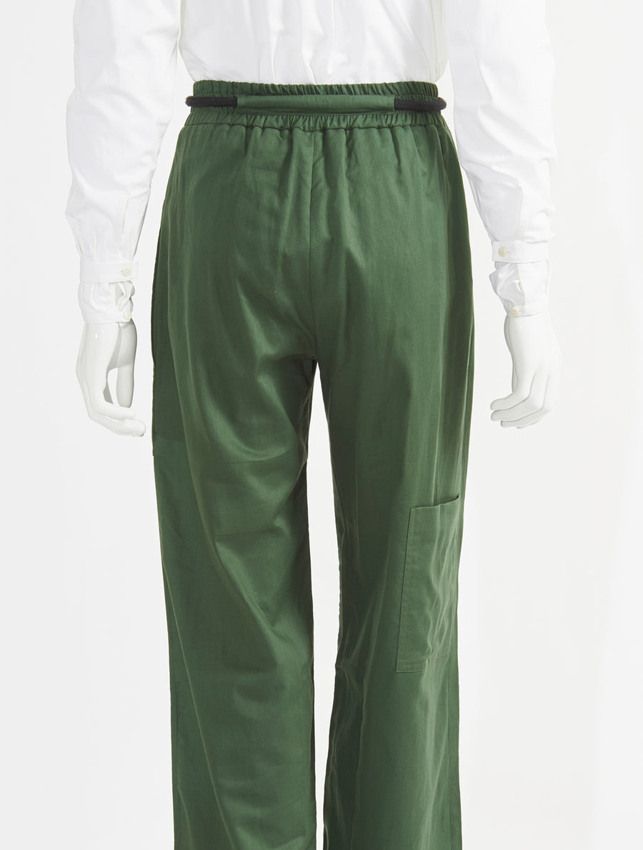 Phoebe English Rope Tie Wide Legs Pants