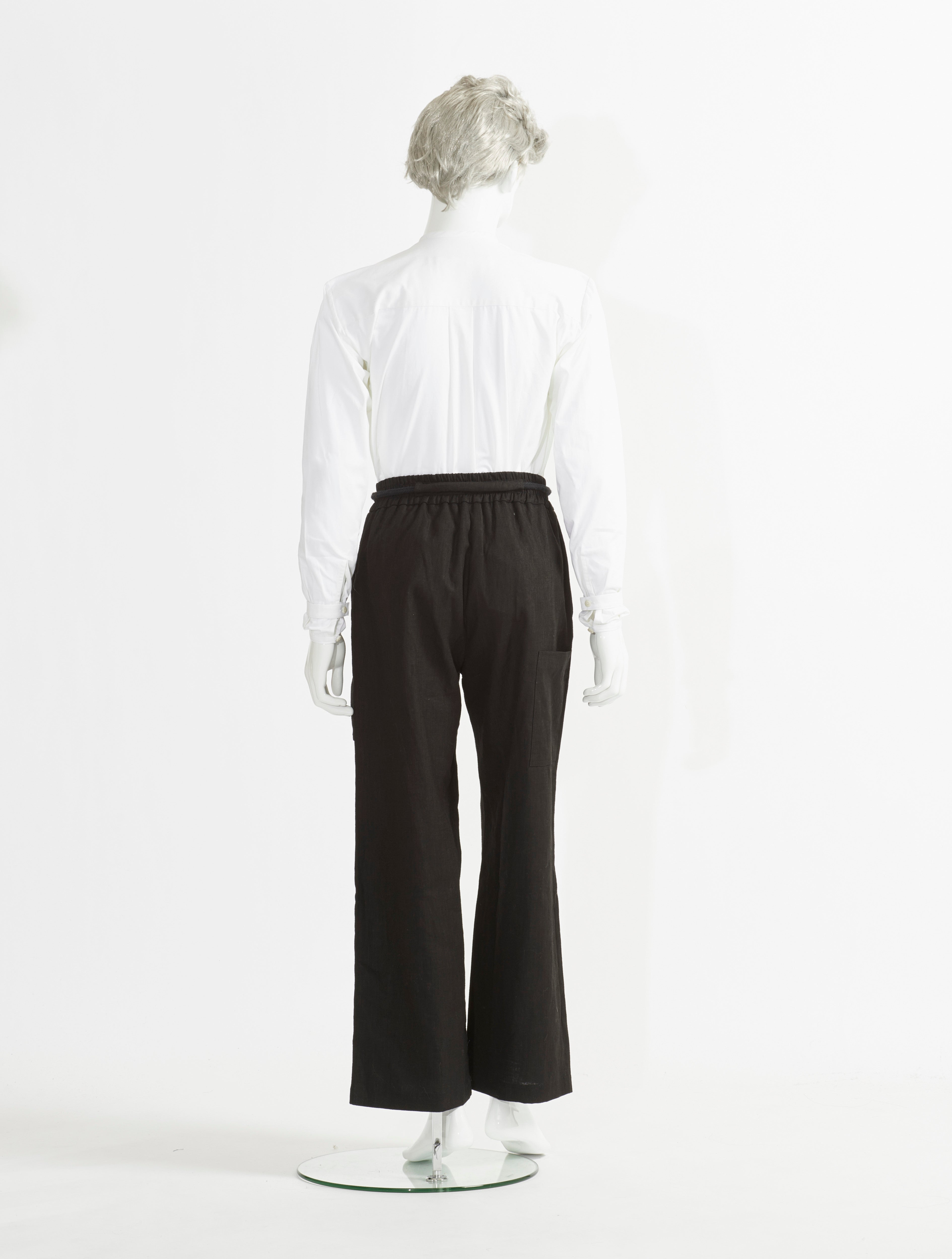 Rope Tie Wide Legs Pants