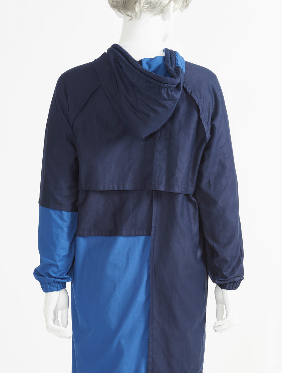 Phoebe English Patched Hooded Coat