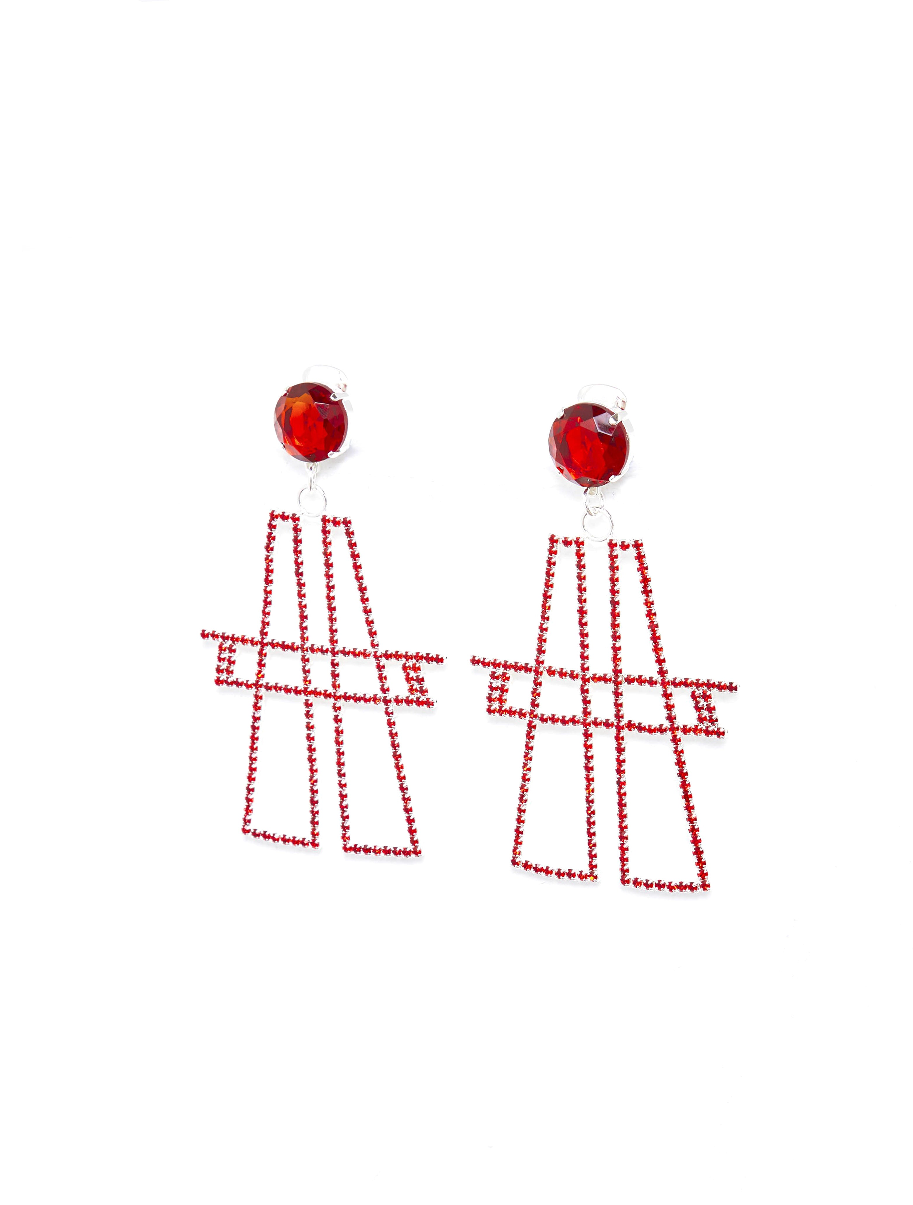 "Red ""A"" Earing"