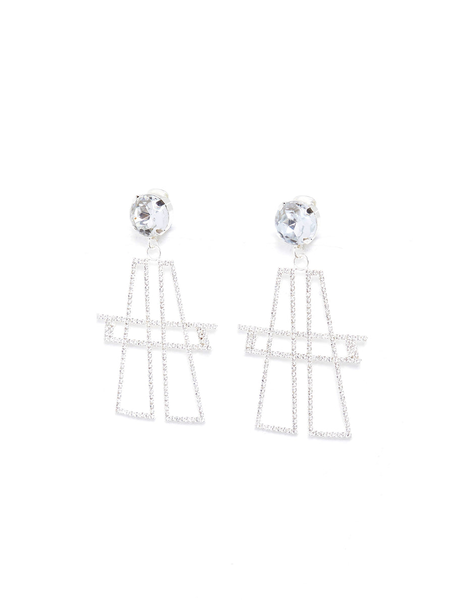 "ART SCHOOL Clear ""A"" Earing"