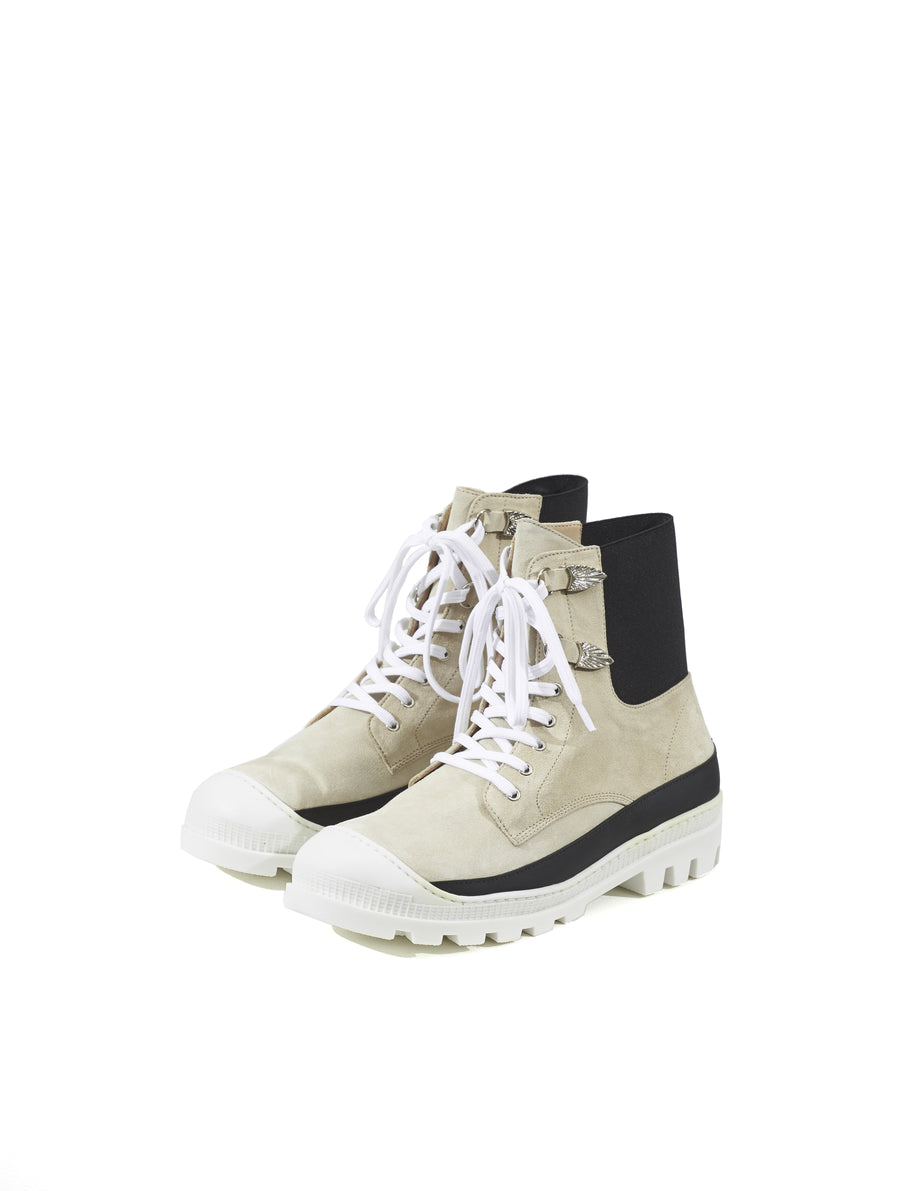 Toga Virilis Off White Suede Boot