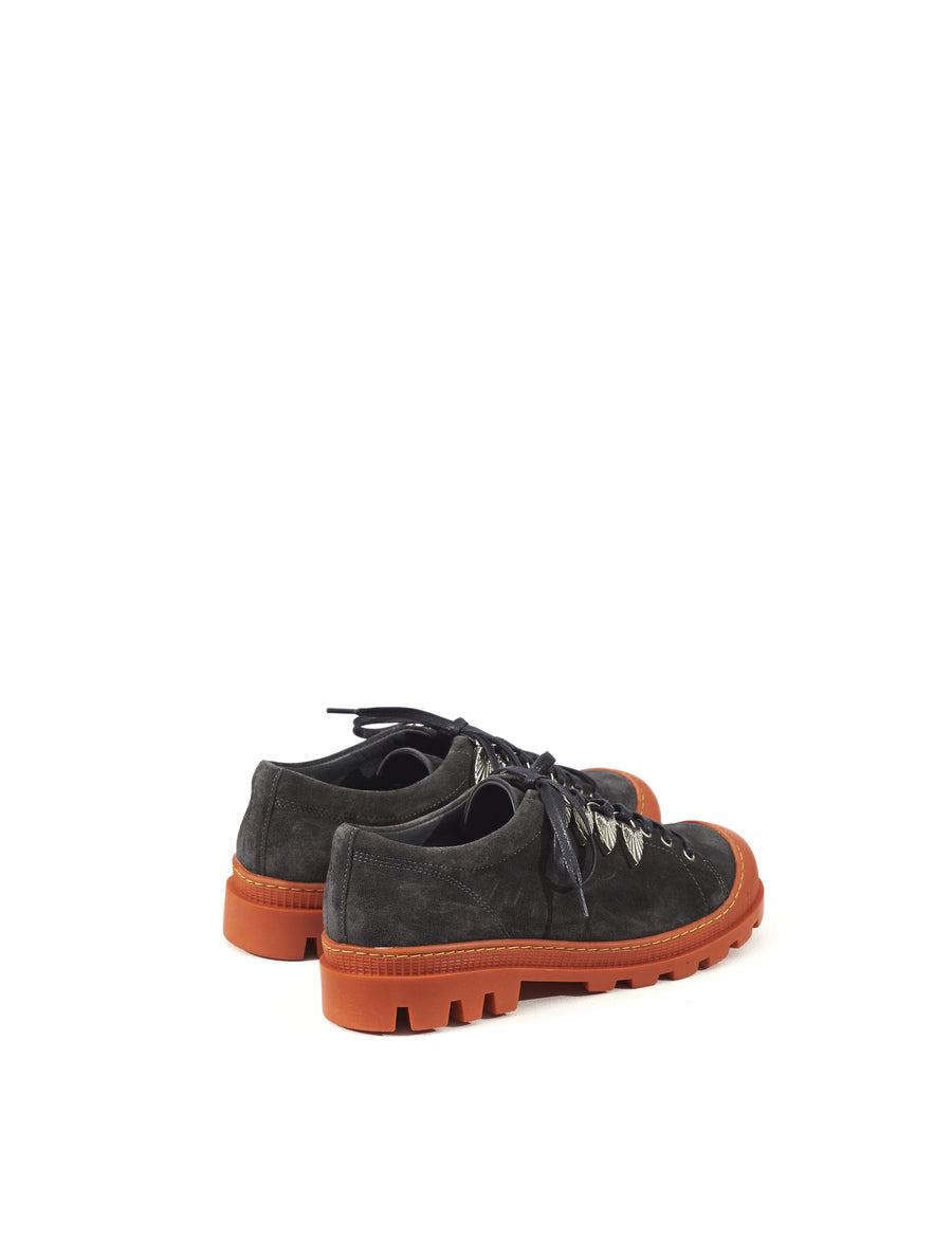 Toga Virilis Dark Grey Suede Lace Shoe
