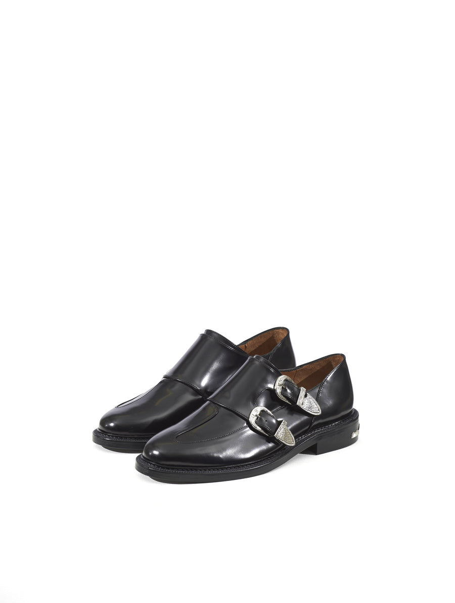 Toga Virilis Black Leather Shoe