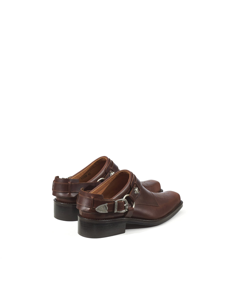 Toga Virilis Brown Leather Cowboy Style Loafer