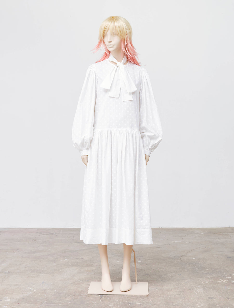 George Keburia White Cotton Dress