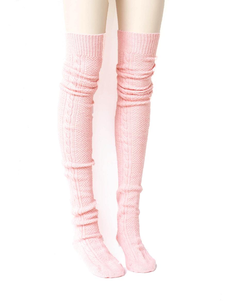 Siiilon Cham Knitted Sock Pink