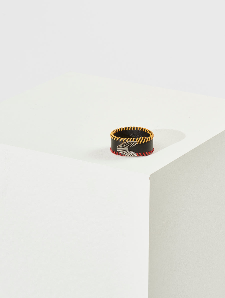 Toga Virilis BlackLeather Bangle