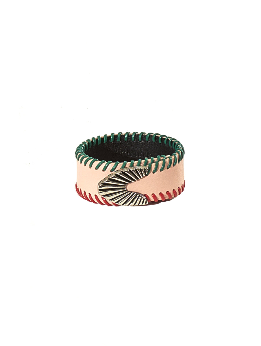 Toga Virilis Light Pink Leather Bangle