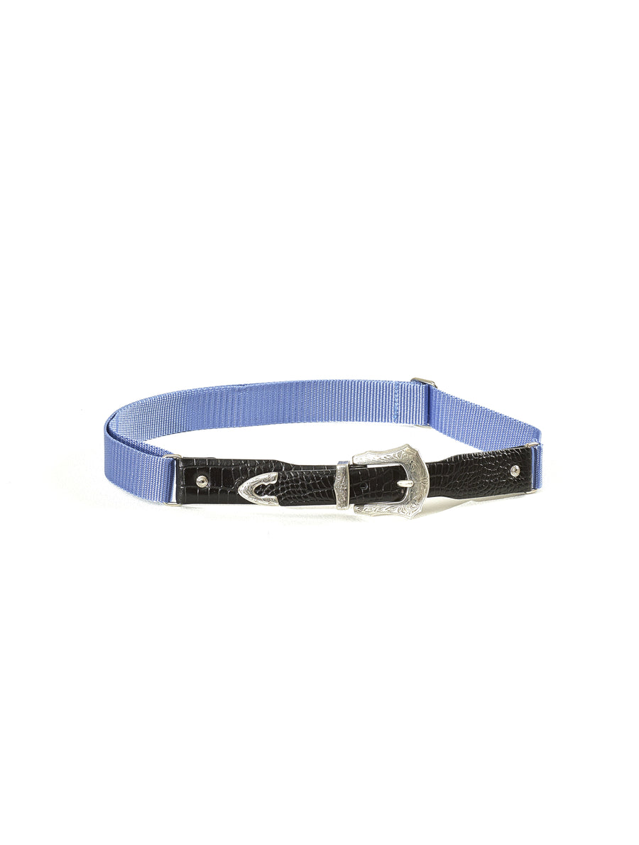 Toga Virilis Blue Leather Belt
