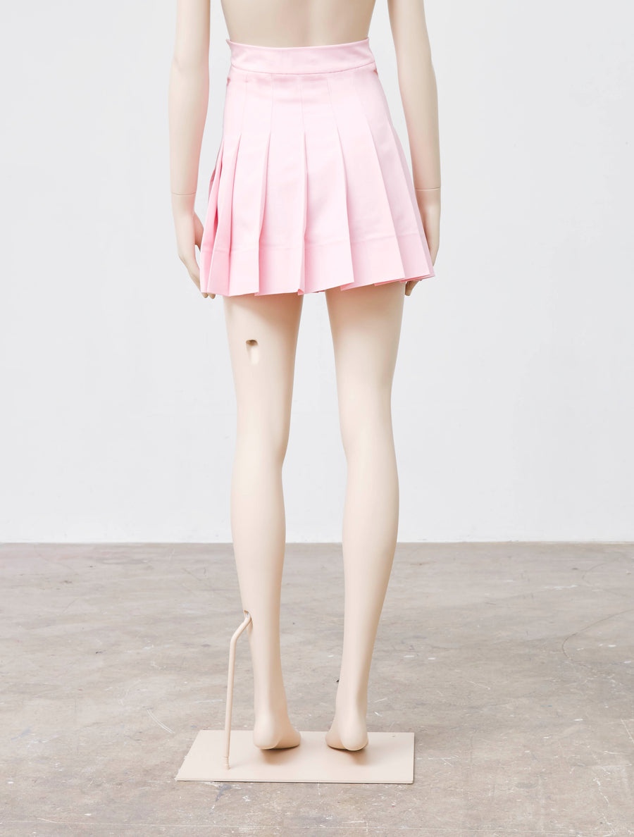 George Keburia Pink Pleated Skirt