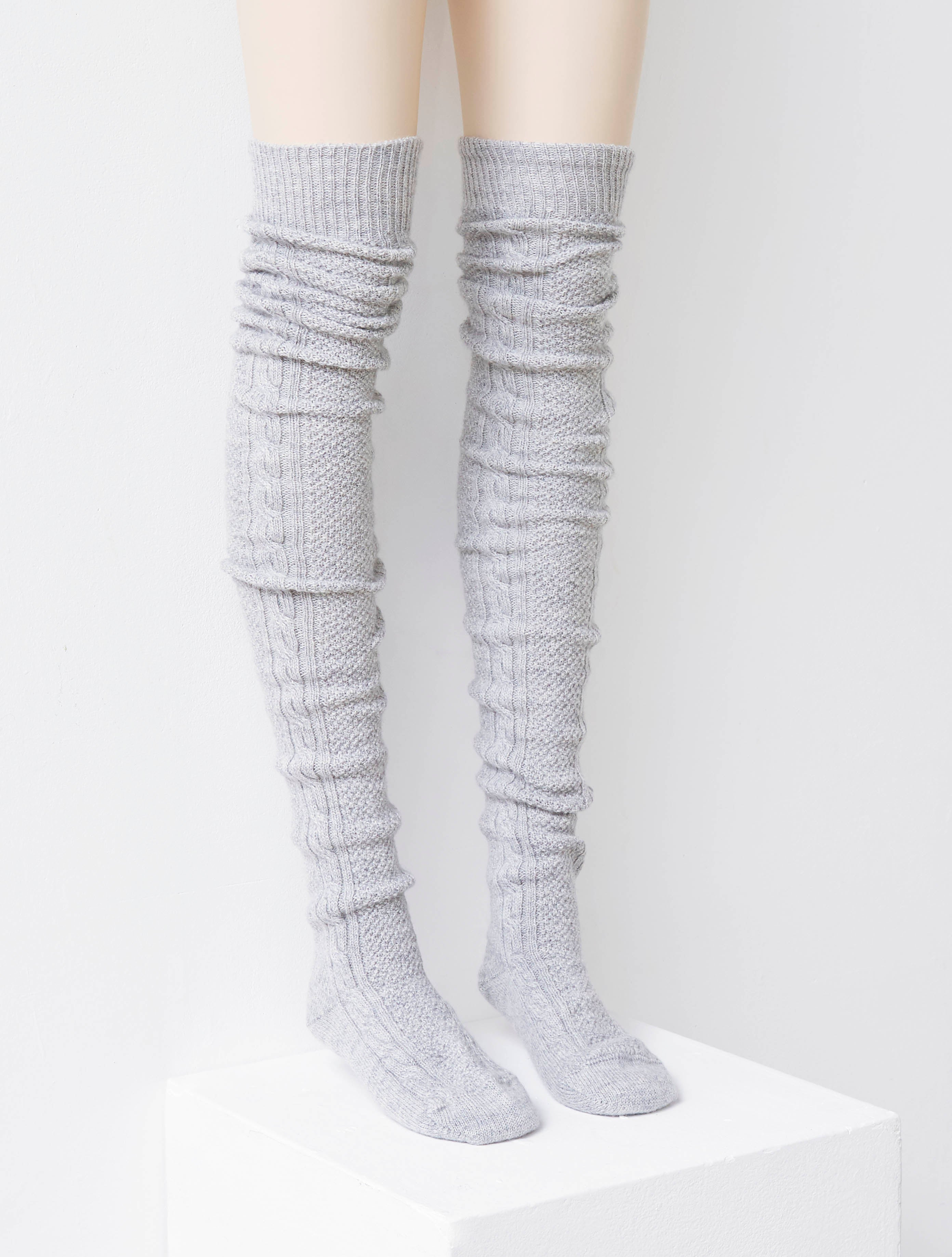 Cham Knitted Sock Grey