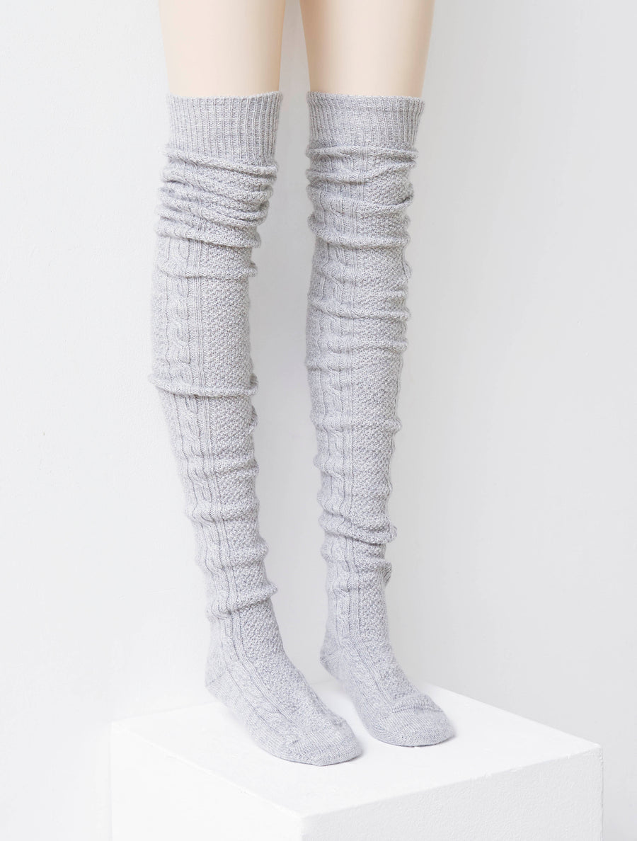 Siiilon Cham Knitted Sock Grey