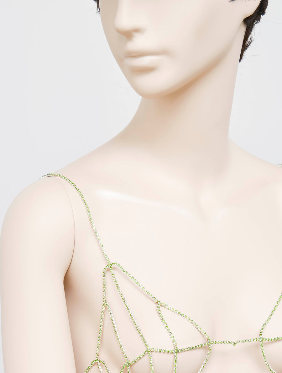 Neith Nyer Inox and Glass Bra - Green