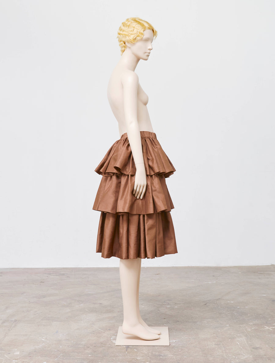 Siiilon Merina Brown Skirt