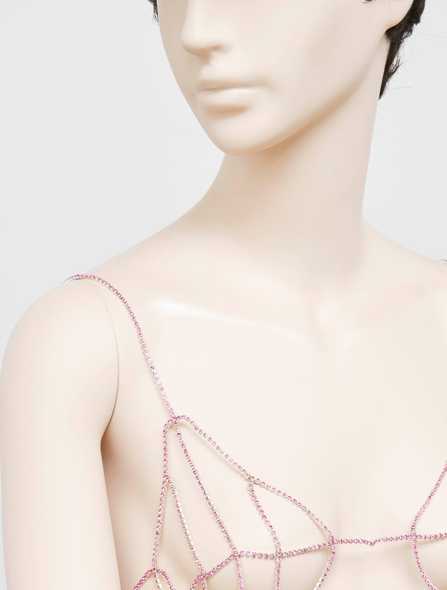 Neith Nyer Inox and Glass Bra - Pink