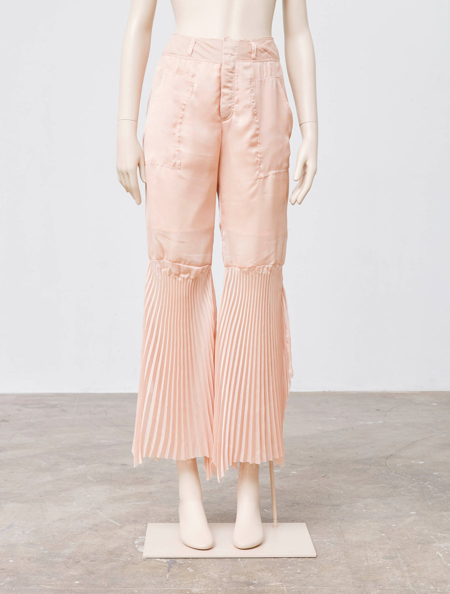 Akiko Aoki Pleated Bell Bottoms