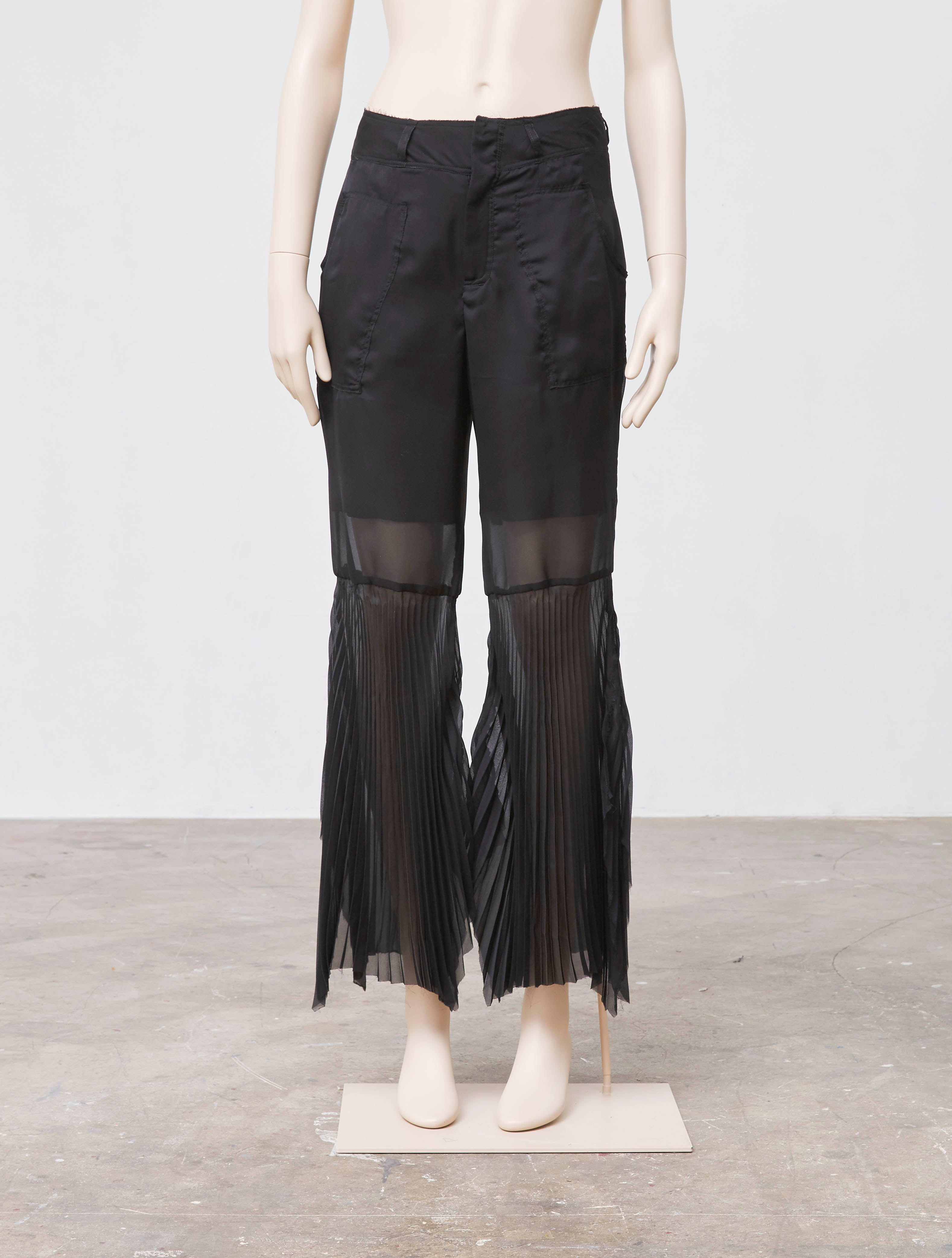 Pleated Bell Bottoms