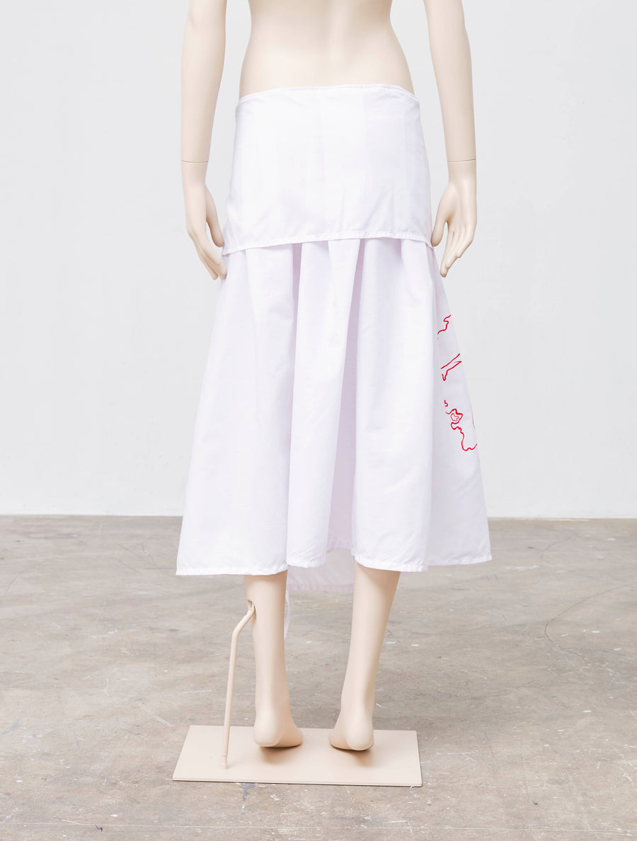 ART SCHOOL Placket Embrio Skirt