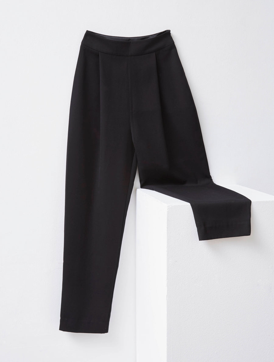 George Keburia High Waist Black Pant
