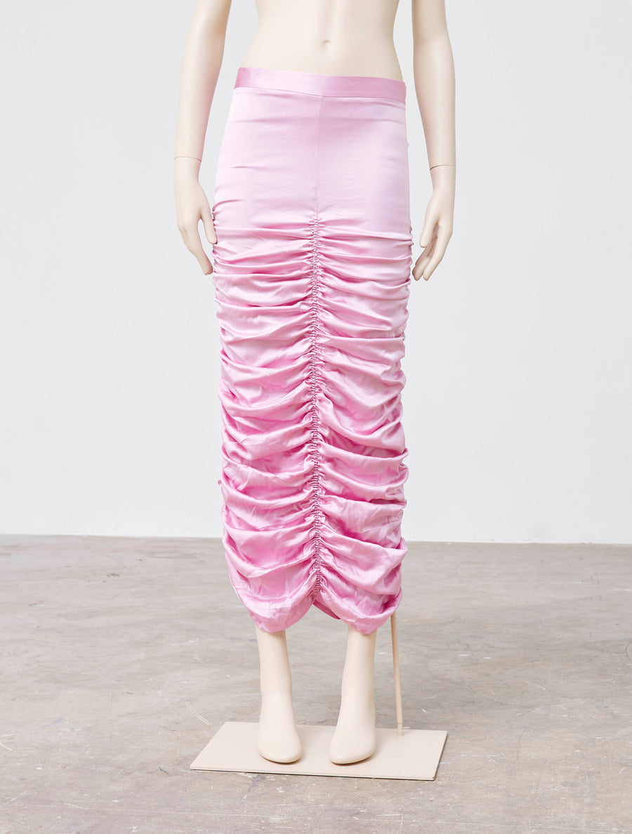 Neith Nyer Lilac Washed Silk Skirt