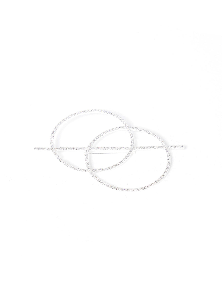 ART SCHOOL Ven Diagram Brooch Clear
