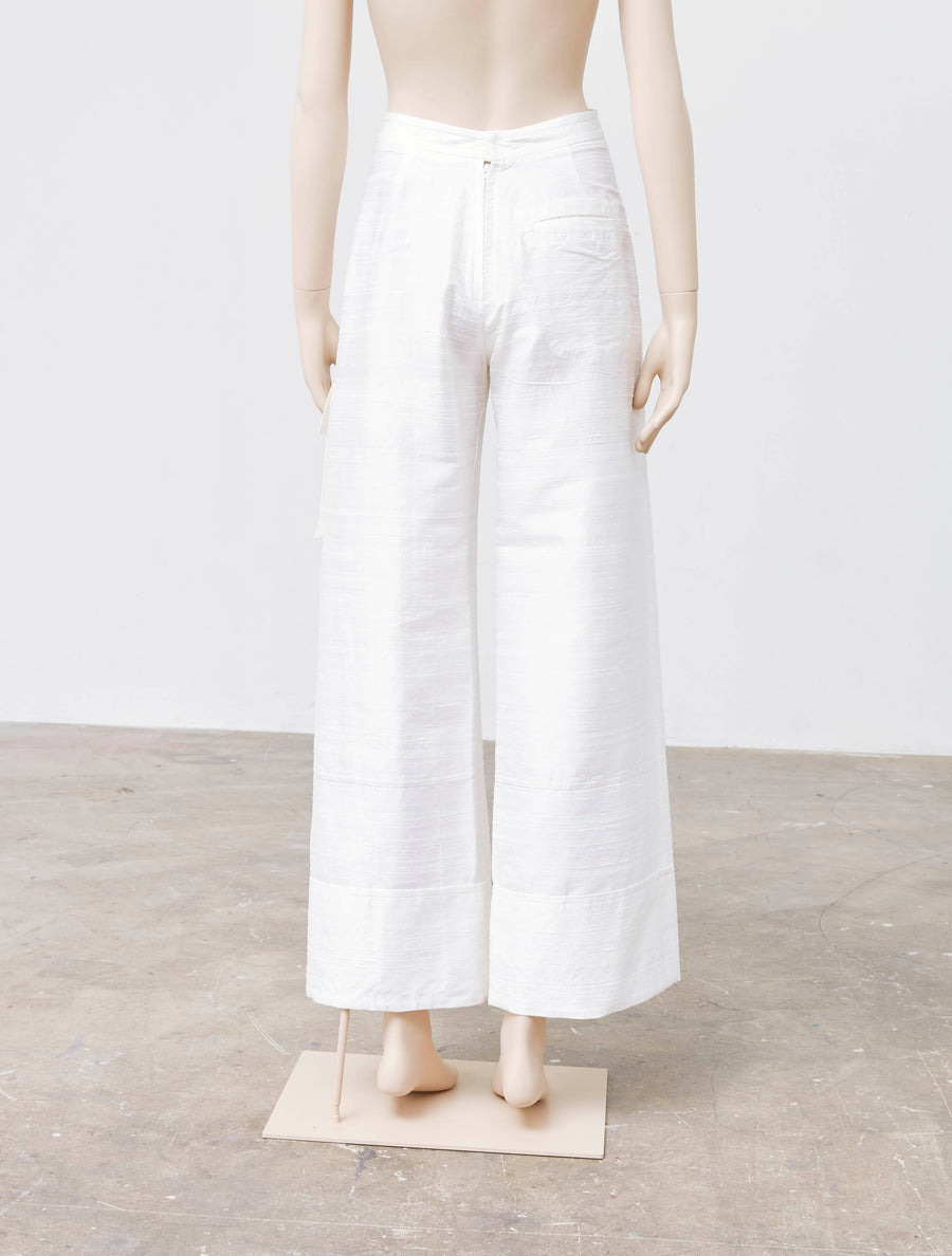 Jenny Fax Long Silk Pants
