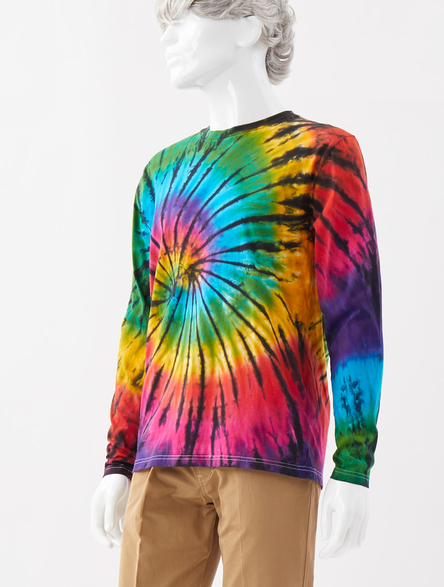 Alex Mullins Crew Neck Tie Dye Spin Top