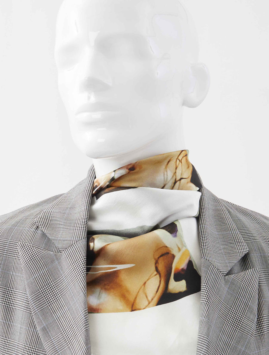 Alex Mullins Smashed Face Silk Scarf