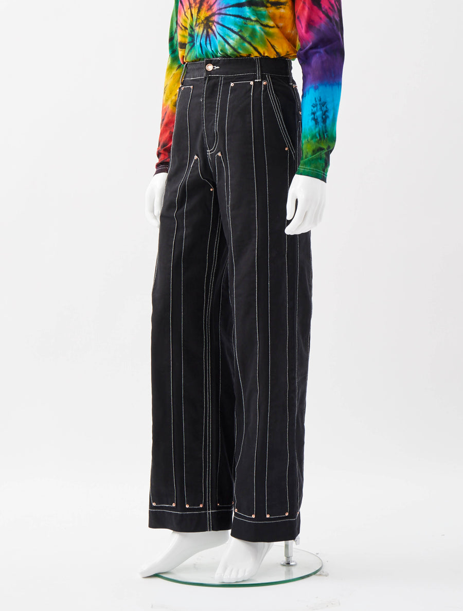Alex Mullins Stripe Worker Trousers