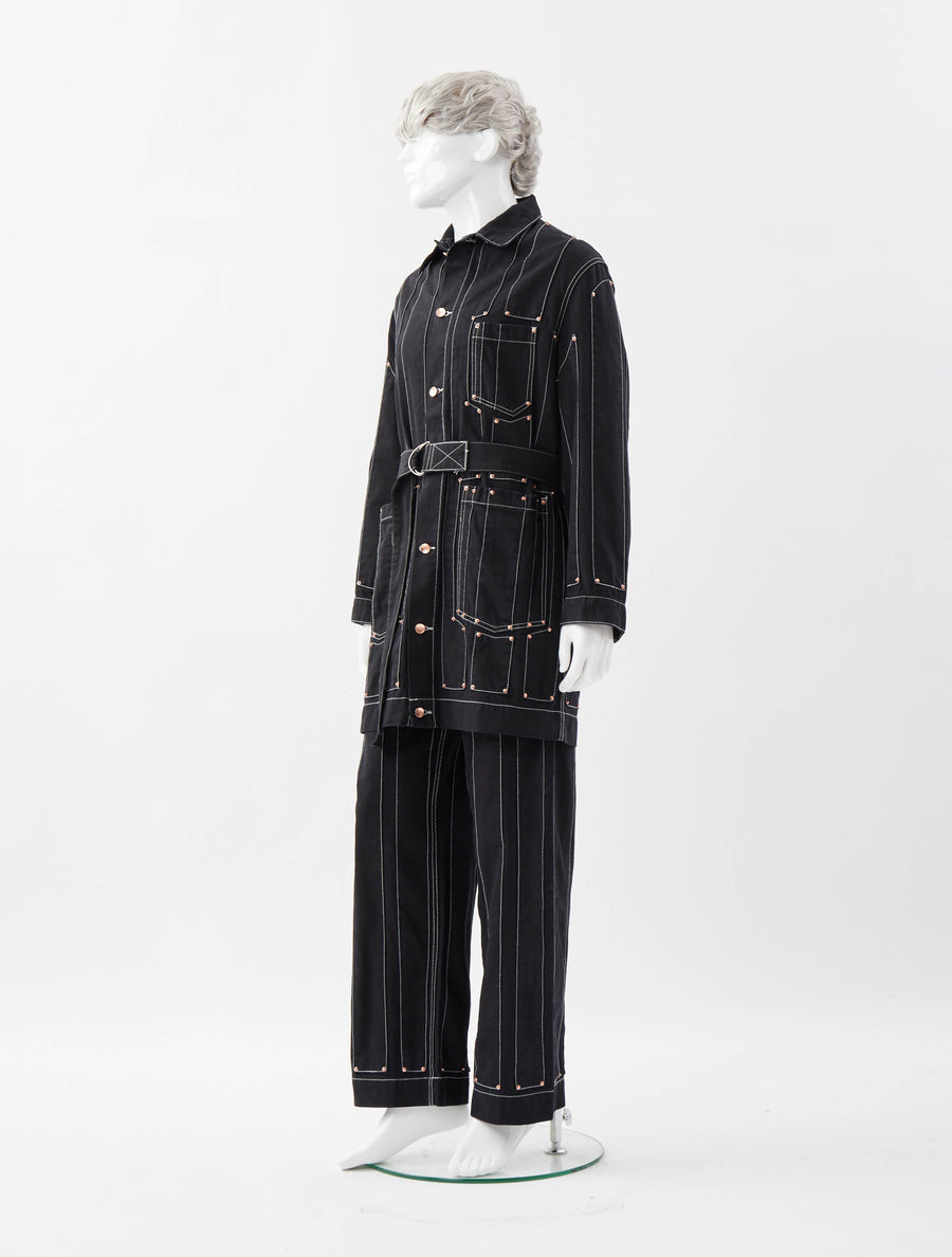 Alex Mullins Striped Worker Mac Jacket