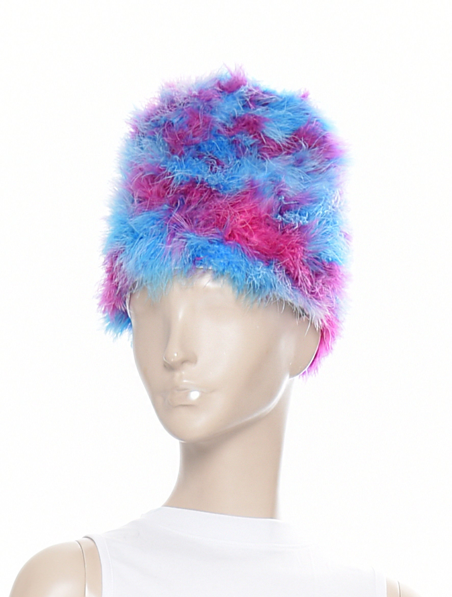 Lilac Blue Box Hat