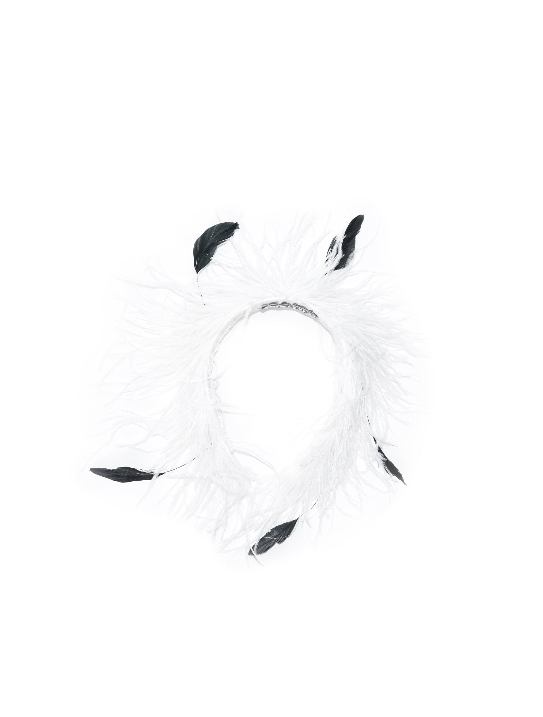 White Ostrich Alice Hairband