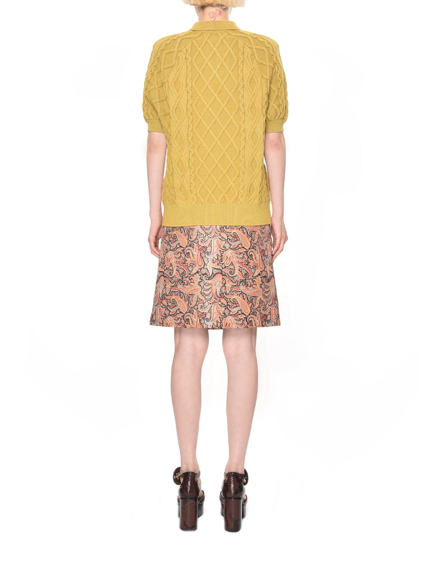 Motoguo Caramel A Polo Knitted Top