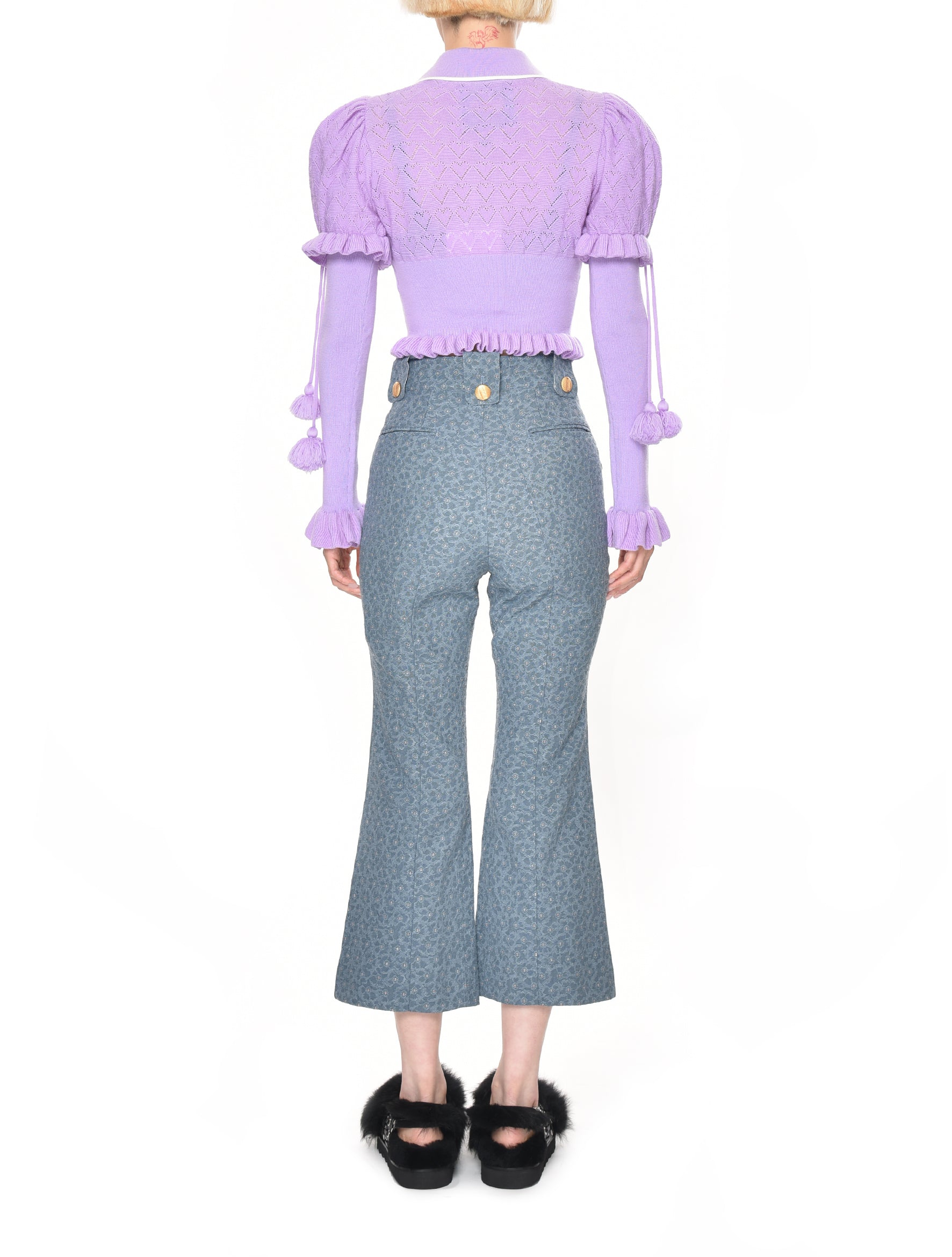 Motoguo Majordomo Lilac Knitted Top