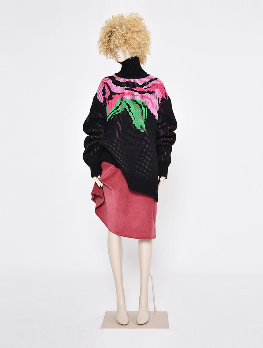 Neith Nyer Kira Flower Oversized Knitted Jumper