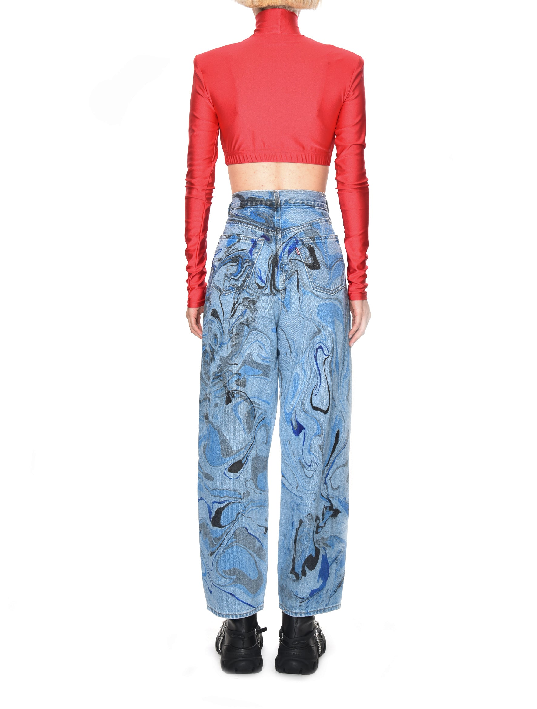 Neith Nyer Reworked Marble Denim Jeans