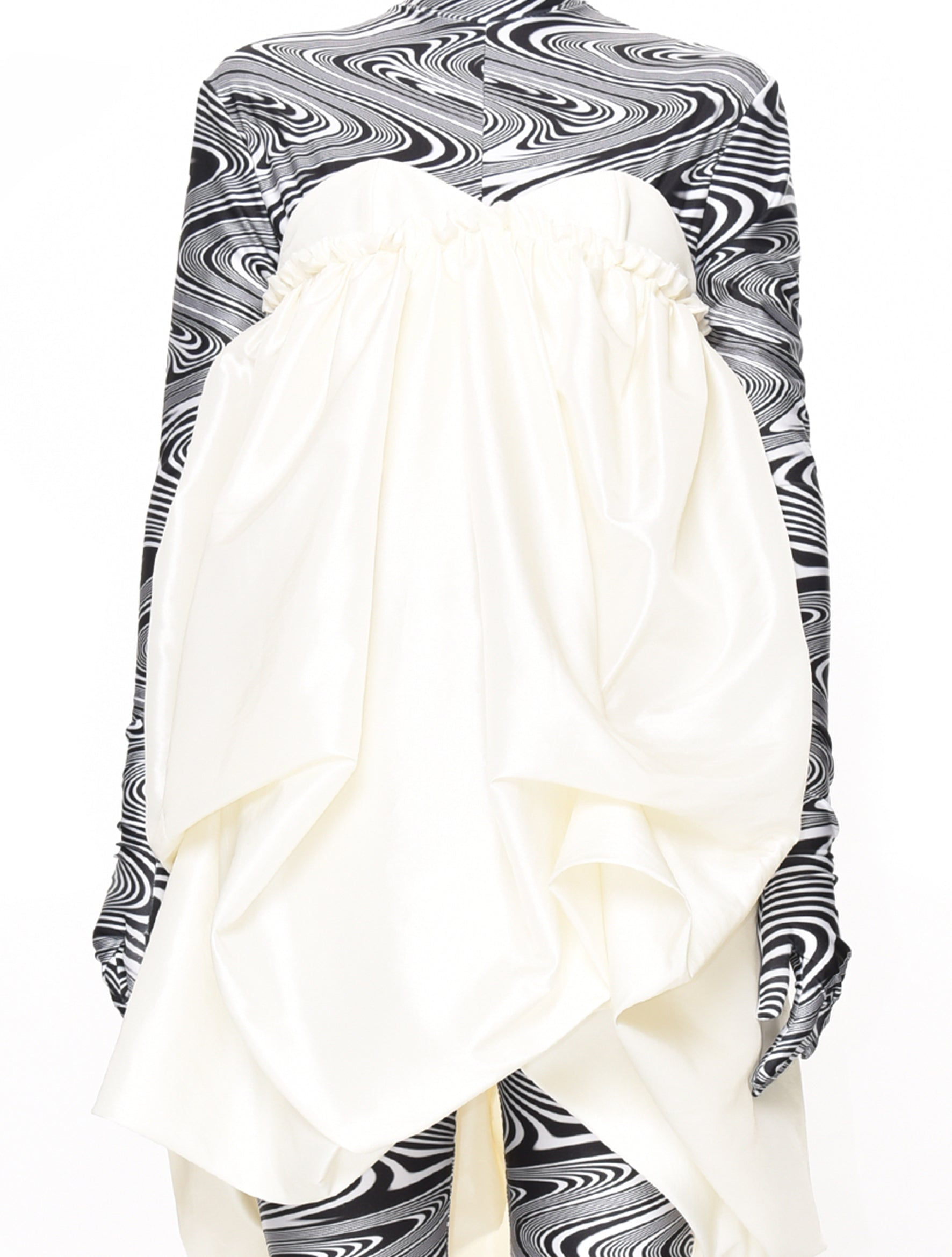 Neith Nyer Off White Balloon Dress