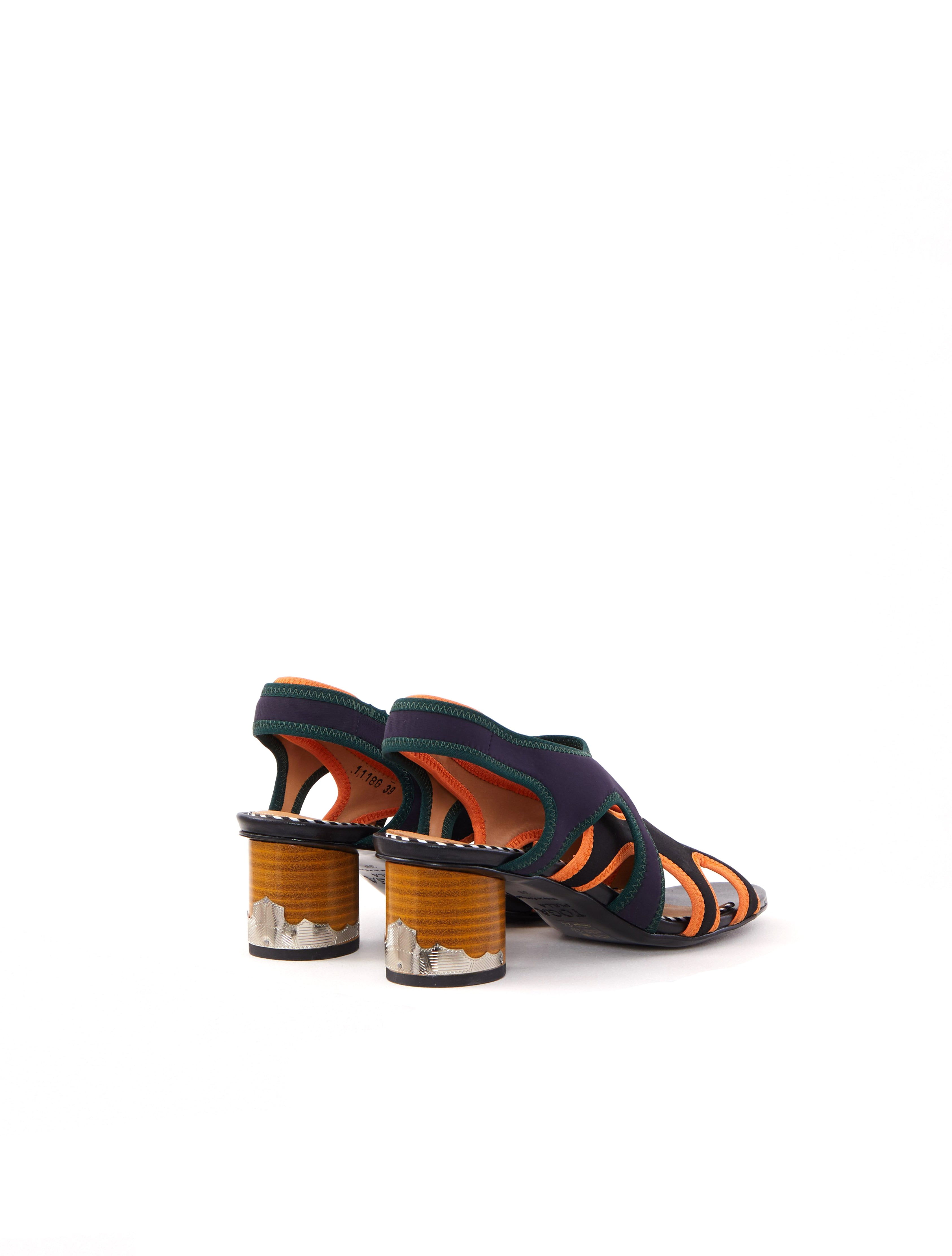 Black Mix Neoprene Sandal