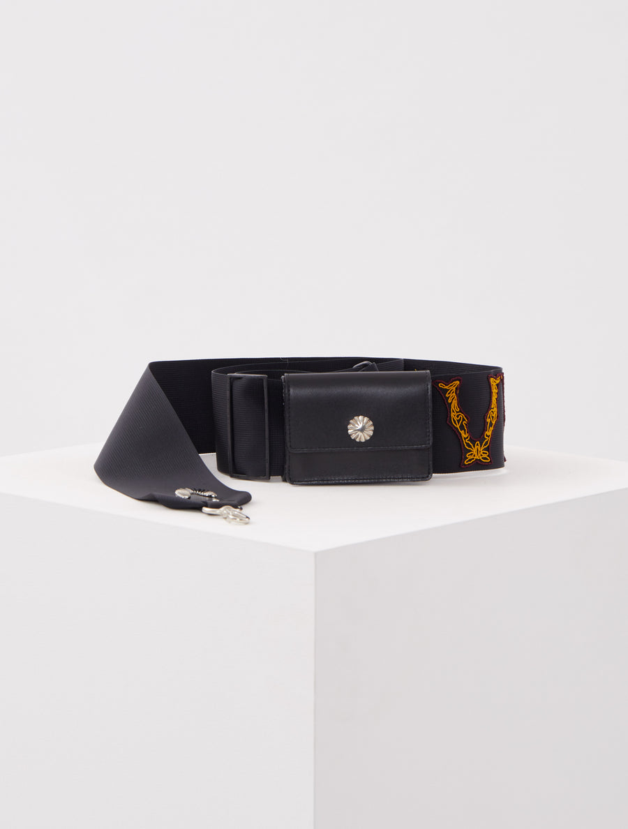 Toga Virilis Black Shoulder Belt Wallet