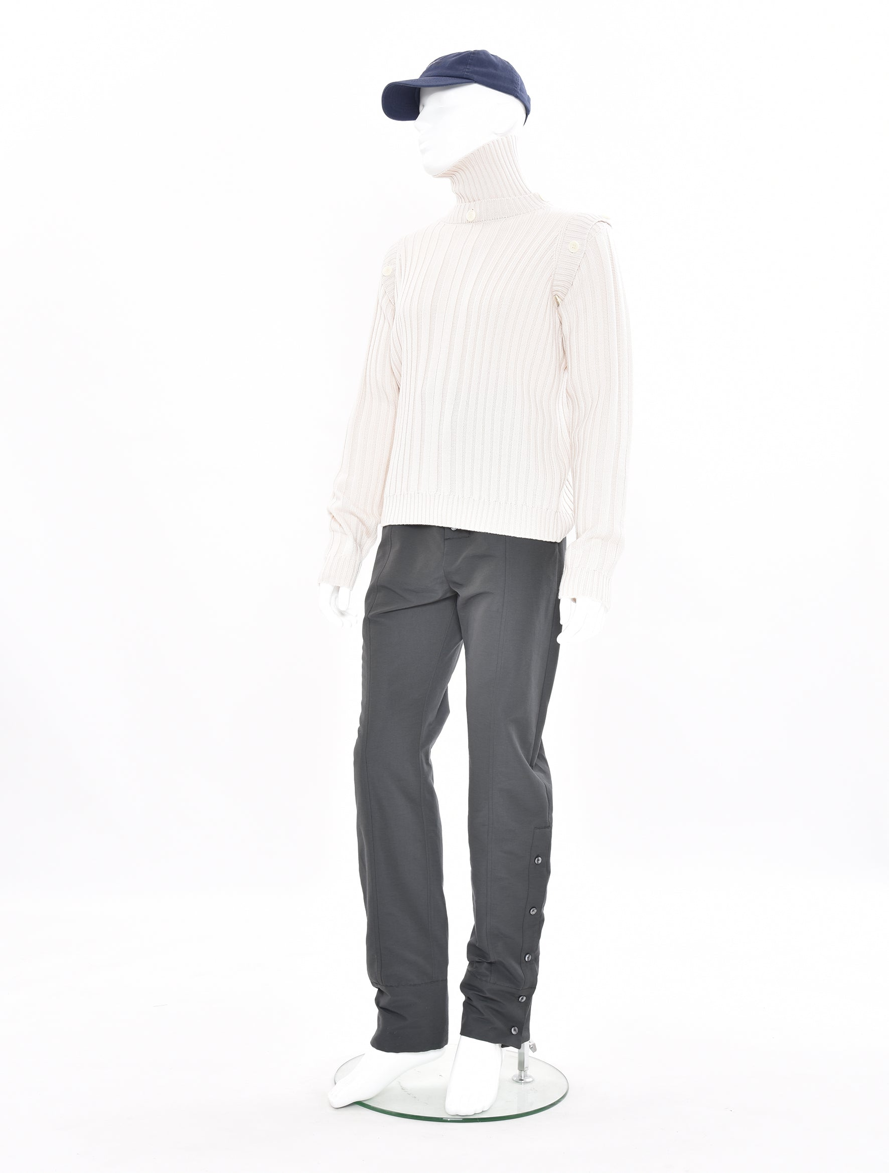 Turtle Neck Rib Knit