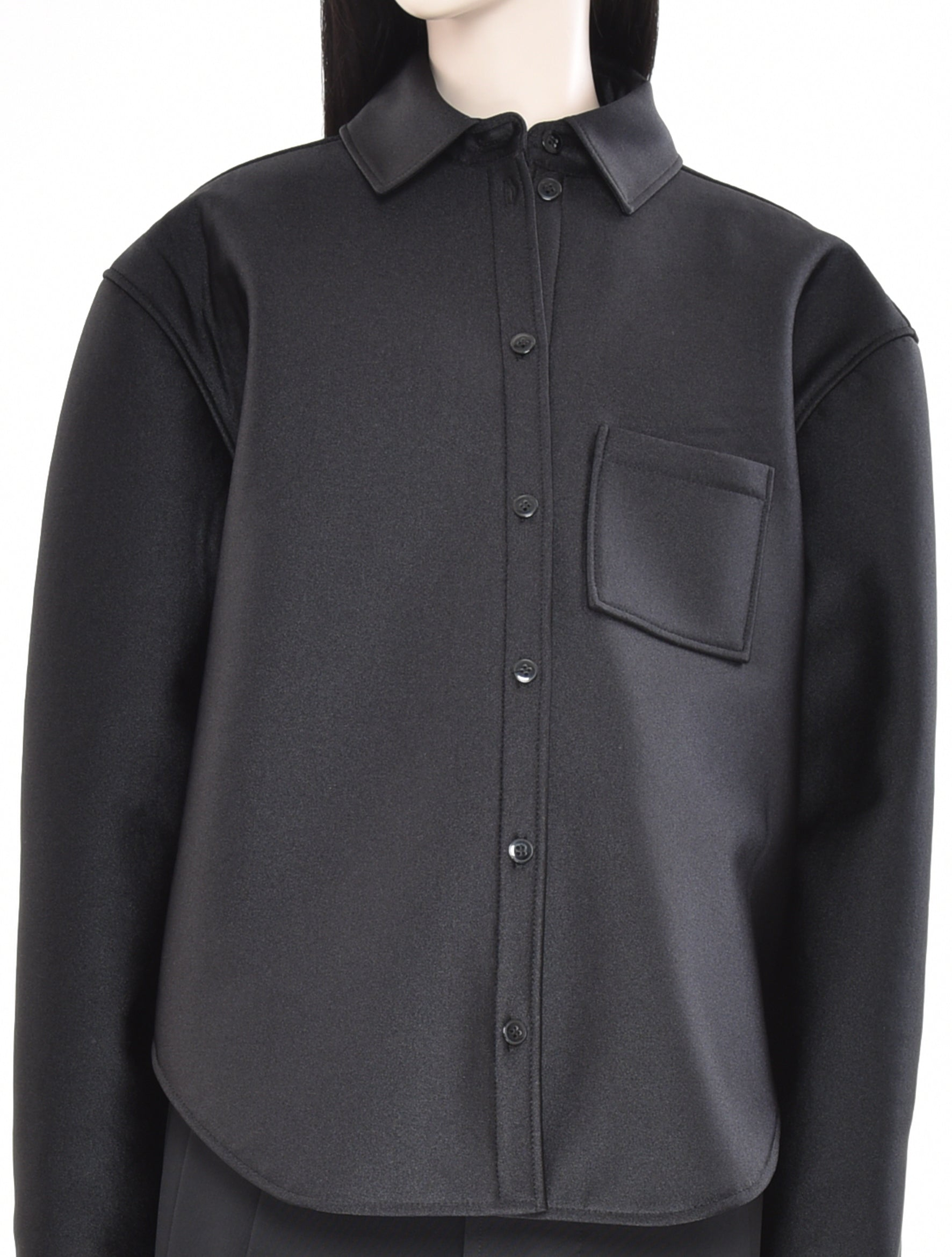 Jersey Tech Overshirt Black