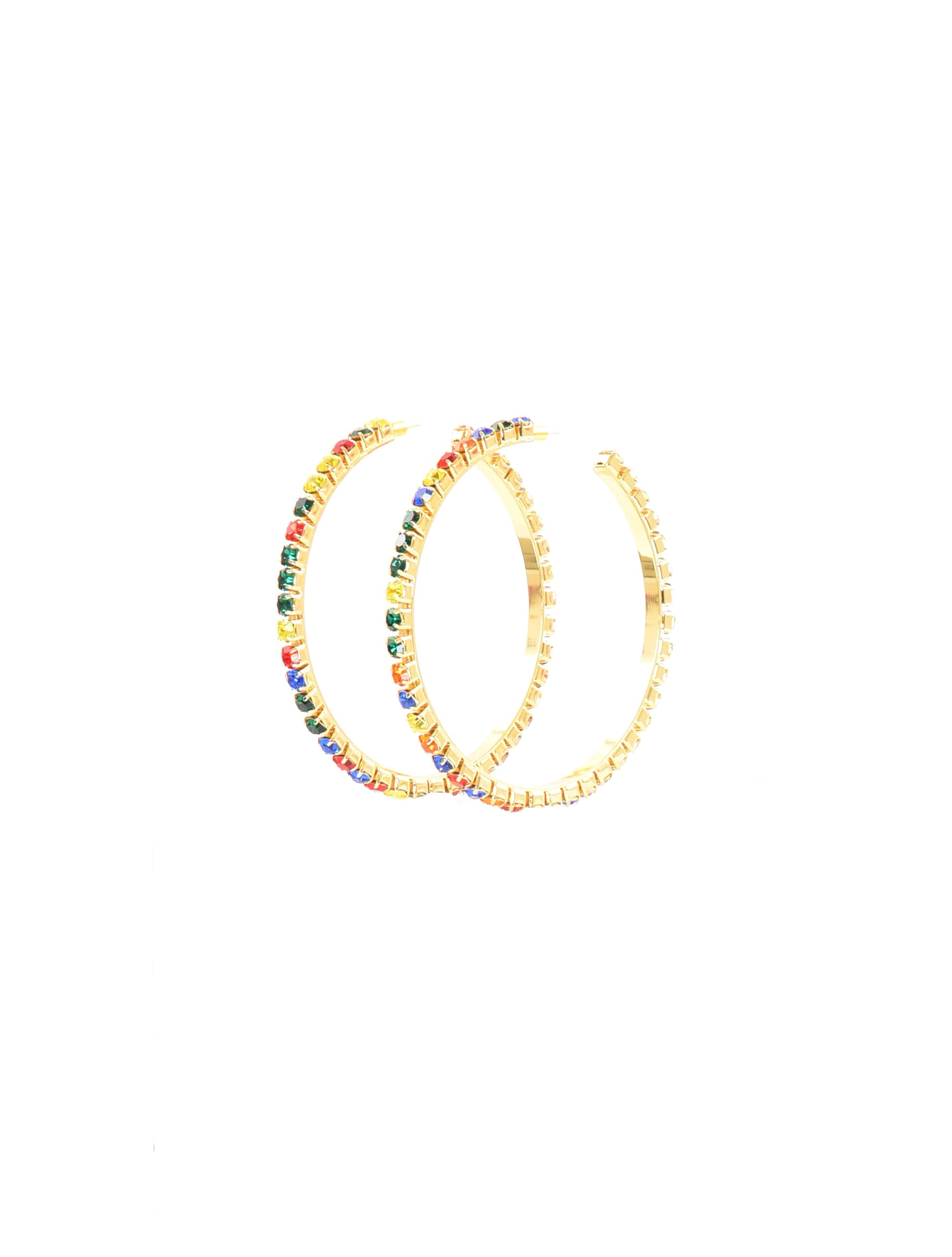 AREA Large Round Hoop Earrings