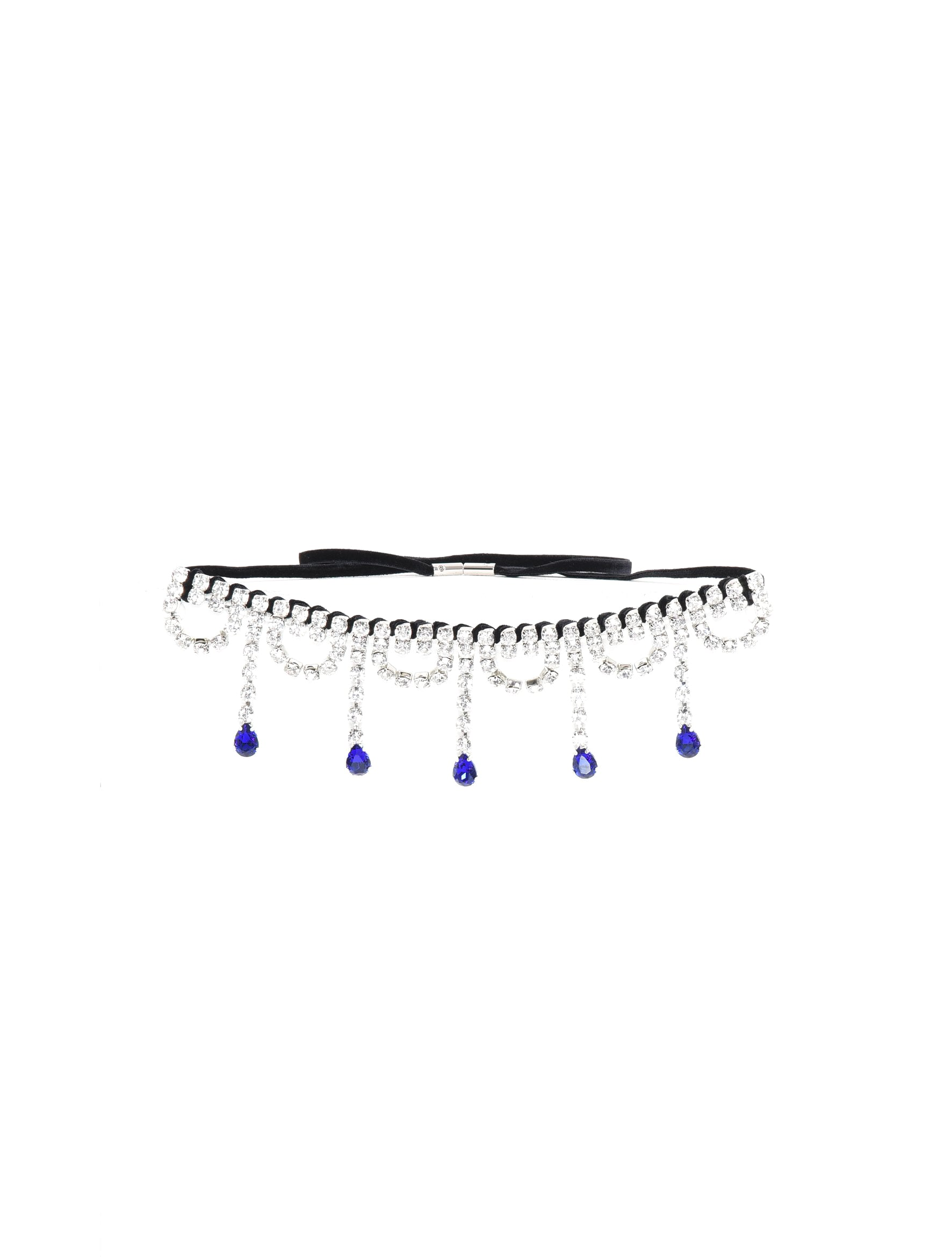 Scalloped Crystal Drop Chocker