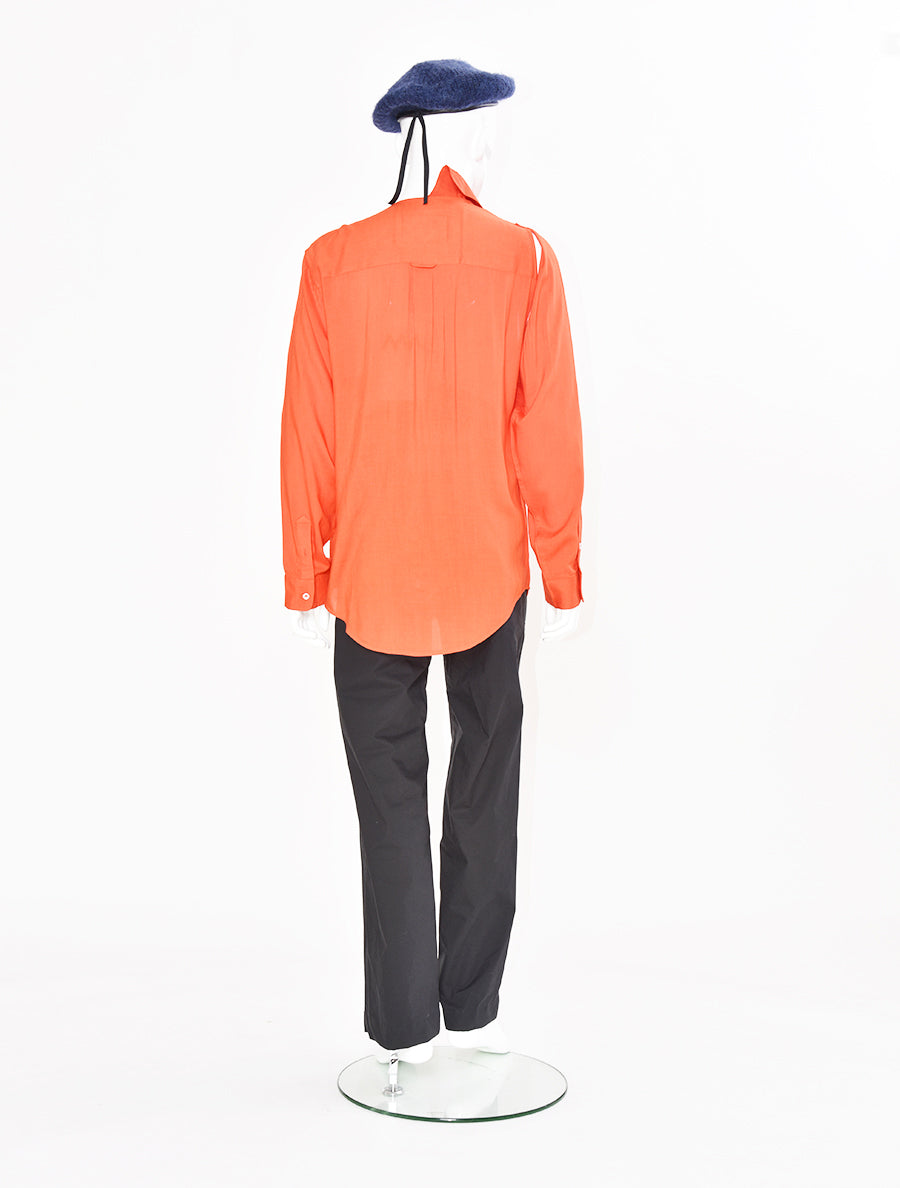 Alex Mullins Embroidered Asymmetrical Shirt
