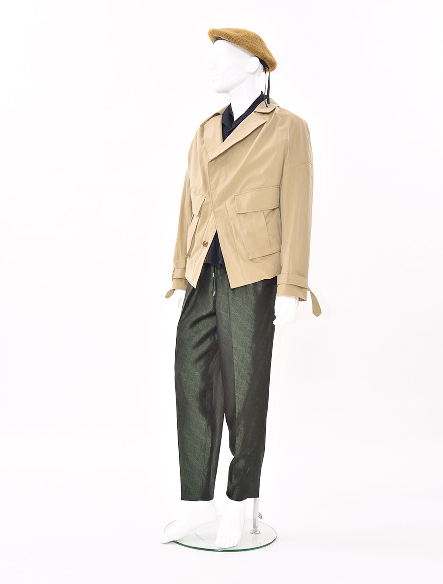 Chalayan Collarless Pulled Back Blouson