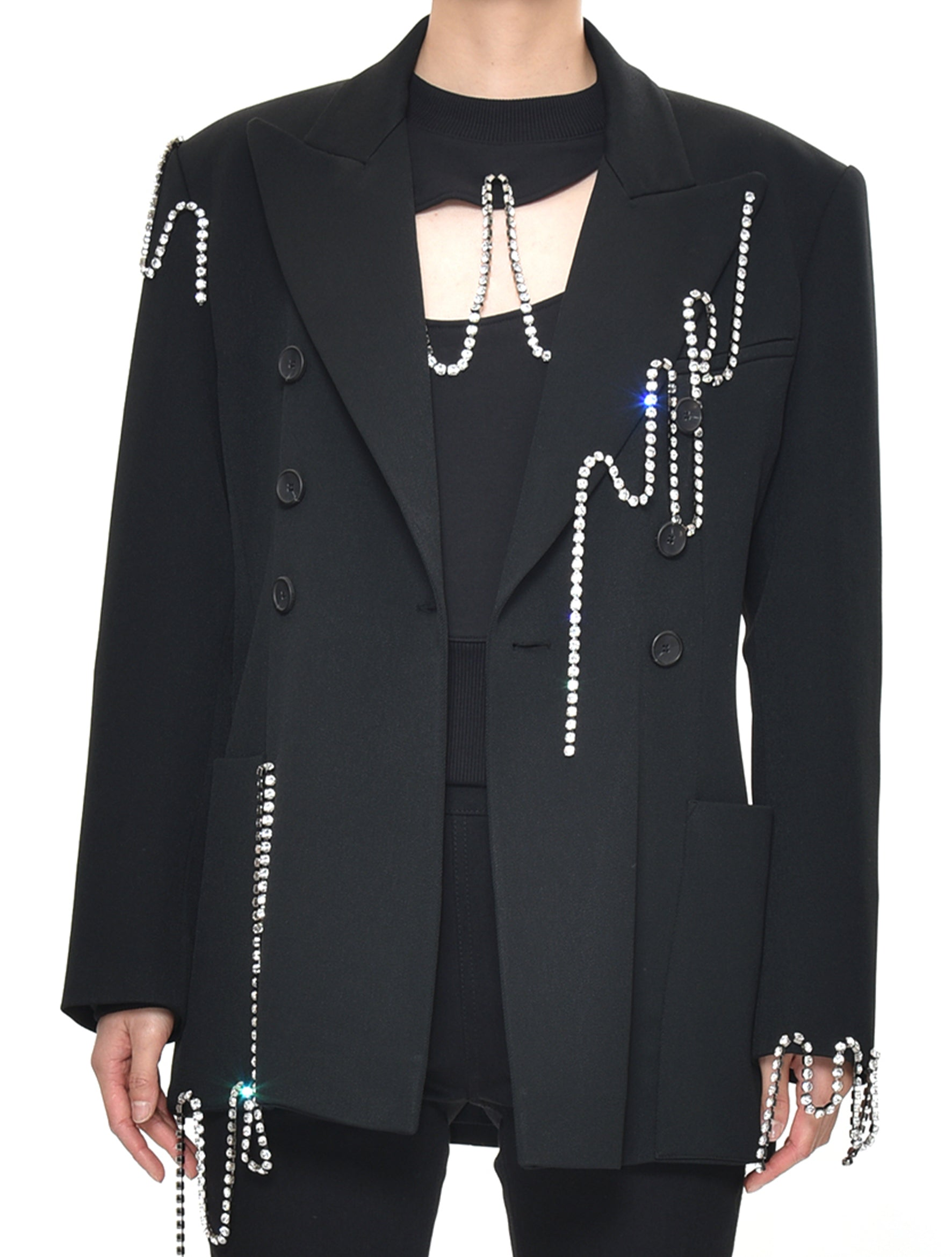 Squiggle Cup chain Tailored Jacket